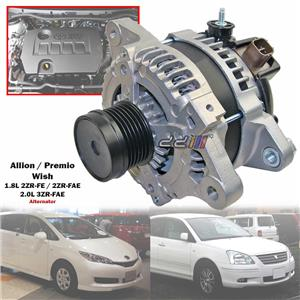 100A Alternator For Toyota Wish ZGE20 ZGE22 ZGE25 1.8L 2.0L 2ZR-FAE 3ZR-FAE