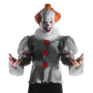 IT the Movie 2017 Version Deluxe Pennywise Clown Adult Costume with Mask STD