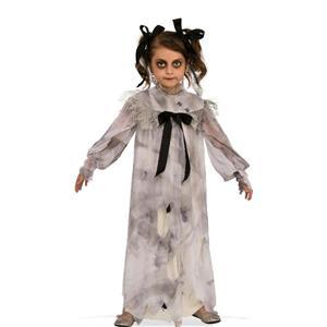 Sweet Screams Girls Creepy Nightgown Dirt Spiders Child Costume Dress L 12-14