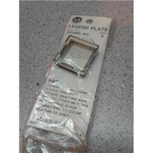 Allen Bradley 800MSWC Legend Plate Clear Lens