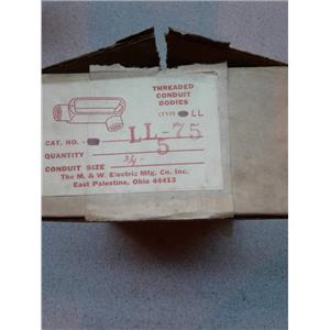 M&W Electric LL75 3/4 Inch Ll Conduit Body
