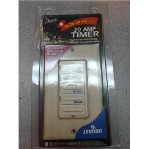 Leviton 6260M Decora 60-30-20-10 Preset Minute Electronic Timer, White