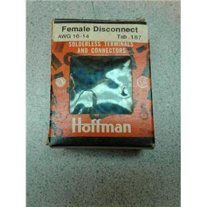 Hoffman FVDF1614T187A5 Female Disconnects Awg 14-16 Tab .187