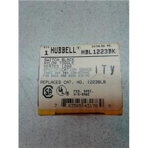 Hubbell HBL1223BK 3 Way Toggle, Industrial Grade, 20 Amp, 120/277V, Black