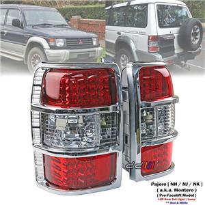 Rear Red & White LED Tail Light Lamp For Mitsubishi Pajero NH NJ NK 1992-97