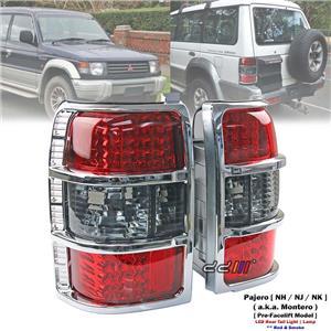 Rear Red & Smoke LED Tail Light Lamp For Mitsubishi Pajero NH NJ NK 1992-97