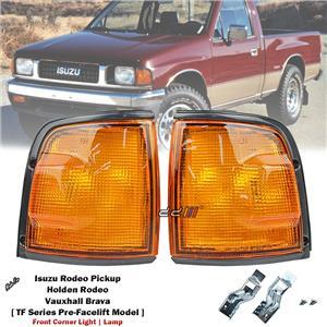 1 Pair Front Corner Light Lamp For Isuzu Holden Rodeo TF Pre-Facelift 1988-1997