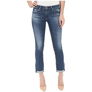 Sz 31 NWT AG Adriano Goldschmied The Stilt Roll-up Jeans in Dunes