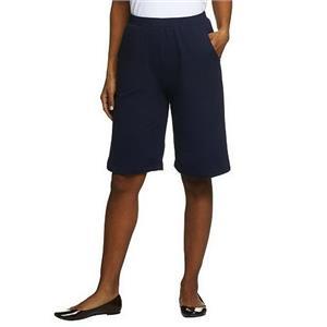 Denim & Co. Size 2X Navy Stretch French Terry Shorts