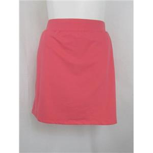 Denim & Co. Active Size 2X Warm Coral Pull-On French Terry Skort with Pockets
