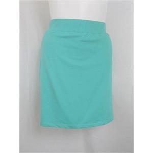 Denim & Co. Active Size 2X Light Turquoise Pull-On French Terry Skort w/ Pockets