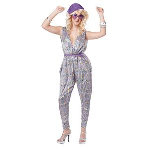 Silver Boogie Fever 70's Disco Jumper Costume Size Medium 8-10