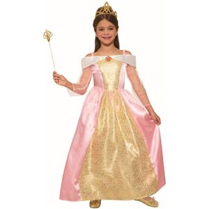 Princess Paisley Rose Child Pink Kids Halloween Costume Medium 8-10