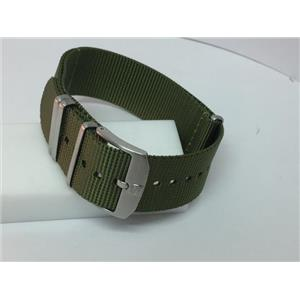Luminox Watchband Military Green Loop Thru.Steel Hardware.Fits 23mm/Wider Watch