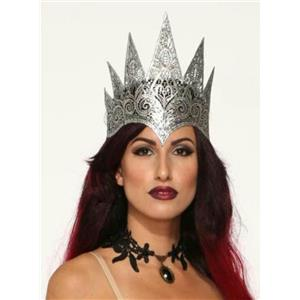 Dark Royalty Silver Lace Queen Crown Costume Crown