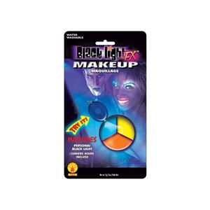 Blacklight Makeup Tri-Color Palette Colors Blue Yellow Orange