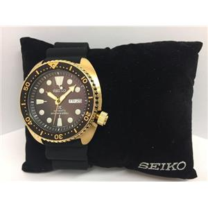 Seiko Mans Automatic Gold Tone Divers Watch SRPC44. 200m Water Resist.