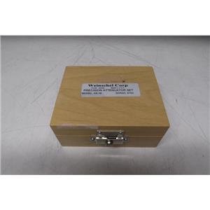 Weinschel AS-19 Fixed Attenuator Set, 4 x WA9 (3, 6, 10, 20 dB)