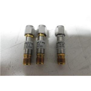 Weinschel AS-19 Fixed Attenuator Set, 4 x WA9 (3, 6, 10, 20 dB), missing 10dB