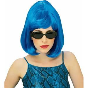 Wild Blue Bouffant Wig Disco Diva