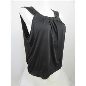 INC International Concepts Woman Size 1X Black Sleeveless Top w/ Cut-in Armhole