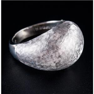 10k White Gold Etched Dome Style Ring / Band 3.8g Size 4.5