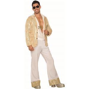 1970's Mens Costume Wide Leg Pleated White Pants Medium 34