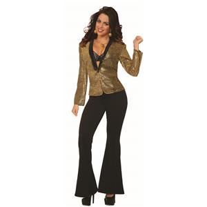 Gold Sequin Blazer Adult Women's Disco Jacket