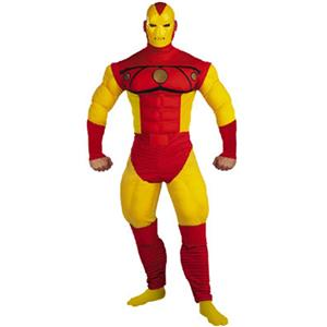 Iron Man Deluxe Muscle Chest Comic Book Adult Costume