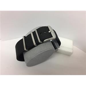 Luminox Watchband FN2201.20Q Black One Piece Strap 22mm w/ Steel Hardware