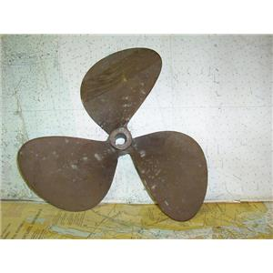 """Boaters Resale Shop of TX 1806 2522.05 BRONZE 3 BLADE 15LH13 PROP FOR 1"""" SHAFT"""
