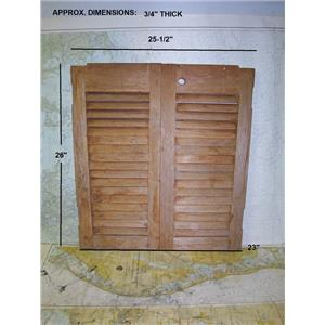 Boaters' Resale Shop of TX 1806 0447.09 SET OF TEAK LOUVERED COMPANIONWAY DOORS