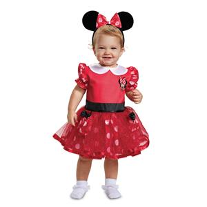 Red Disney Minnie Mouse Mickey Toddler Costume Size 6-12 Months