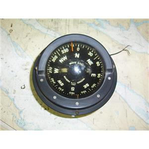 "Boaters Resale Shop of TX 1806 1724.01 WHITE STAR RIVERA 4-1/2"" COMPASS W/ LITE"