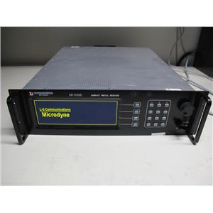 L3 Communications DR-2000 High Perf. C-Band Digital Receiver 50 kHz to 30 MHz