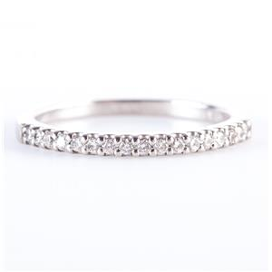 Platinum Round Cut Diamond Wedding Anniversary Band / Ring .08ctw