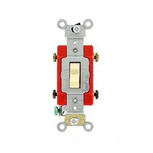 Leviton 1222-2I 20A 120/277V IVORY Toggle Double-Pole AC Quiet Switch Heavy Duty