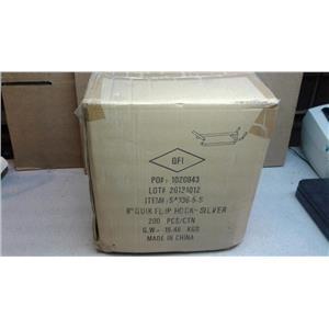 "QFI 8"" Quick Flip Hook-Silver 200/pack"