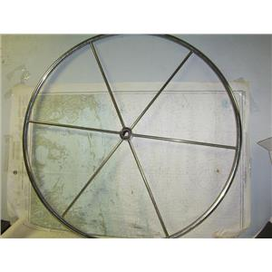 "Boaters Resale Shop of TX 1808 0721.01 STEEL 42"" STEERING WHEEL FOR 1"" SHAFT"