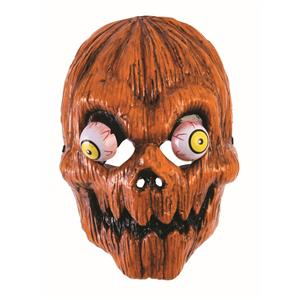 Pumpkin Head Evil Clown Face Mask