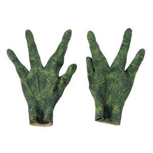 Green Alien Gloves Hands Adult Size