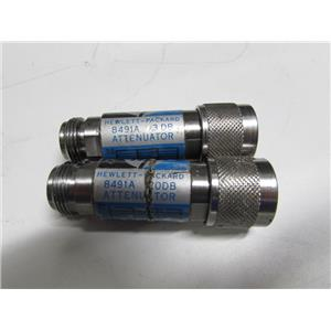 Agilent HP 8491A Coaxial Fixed Attenuator, DC to 12.4 GHz, 3dB & 20dB