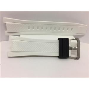 Casio Watch Band GST-210 -B7 White Rubber Strap.G-Shock Watchband. Strap