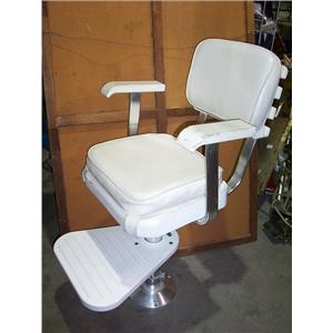 Boaters' Resale Shop of TX 1808 1277.01 POMPANETTE HELM CHAIR, FOOT REST & BASE
