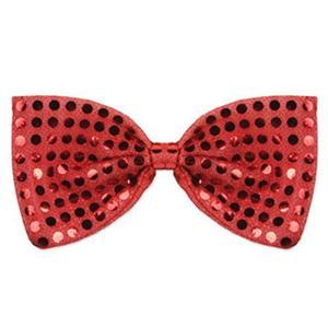 Red Glitz 'N Gleam Sequin Bow Tie Costume Accessory
