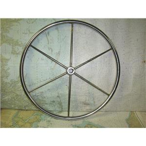 """Boaters' Resale Shop of TX 1808 2155.05 SS 24"""" STEERING WHEEL FOR 1"""" SHAFT"""