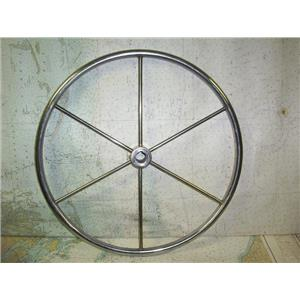 """Boaters' Resale Shop of TX 1808 1274.01 SS 20"""" STEERING WHEEL FOR 1"""" SHAFT"""