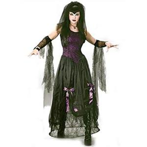 Goth Black Widow Spider Princess Adult Costume M/L