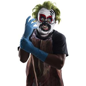 Rubies Inbred Latex Killer Clown Mask With Green Hair