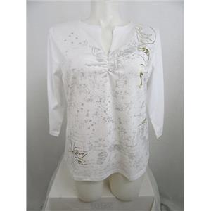 Lane Bryant Venezia Size 14/16 White Decorative Top